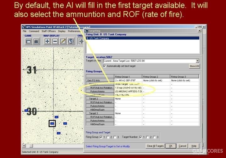 AI会默认选择第1个目标,还会选择弹药以及射速。