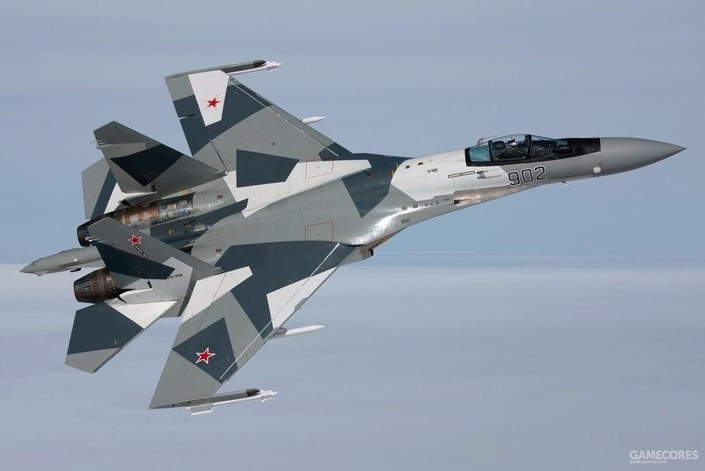 几何碎片迷彩最初出现在SU-35身上