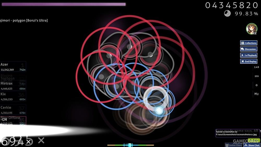 该图为著名EZ玩家-GN的polygon的rep,他有着强大的EZ读图能力,被称为挪威zz