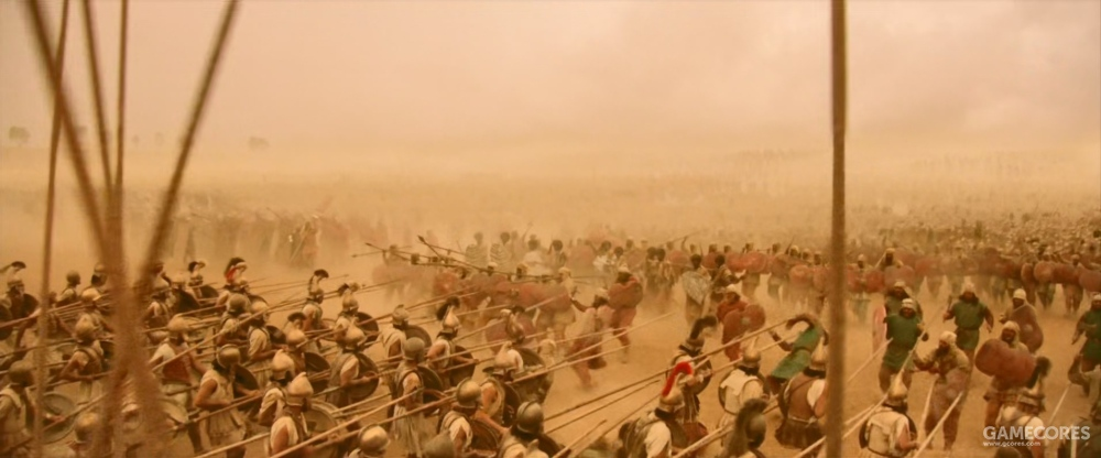 电影中马其顿长枪兵和波斯步兵的对决