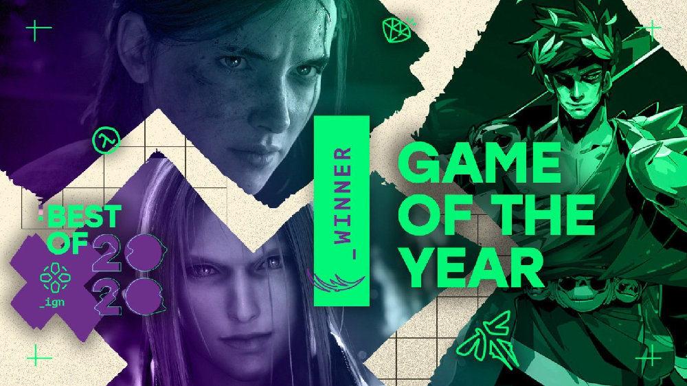 IGN公布年度游戏名单:《黑帝斯》被评为年度游戏,《最后生还者:第二章》获玩家选择奖