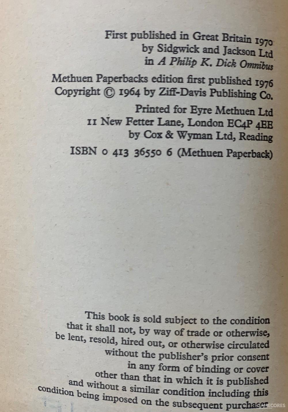 版权页显示这本书的出版历史