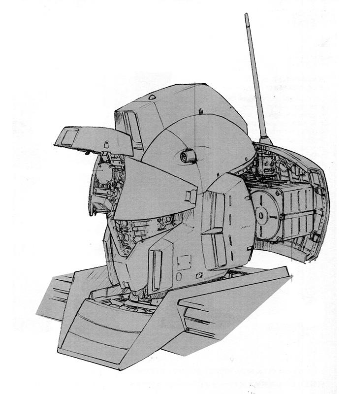 头部大量设计参考了RX-79NT-1的设计。高性能中央计算机和大型化的散热结构替代了RGM-79系列常见的集成式控制模块而前额部分增加了长距离索敌系统。预定作为队长机服役的RGM-79N也和一系列高性能机一样,在头部追加了高性能通讯天线。