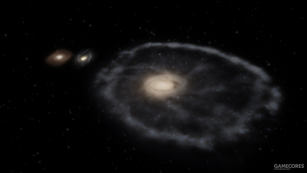 车轮星系,距离银河系4.9亿光年