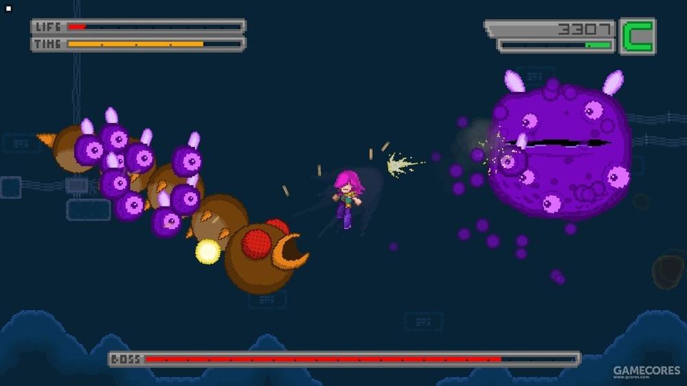 在通关后的BOSS战模式中,玩家可以随意配置复数的BOSS同时出场。而一命通关的街机模式也极富挑战性。