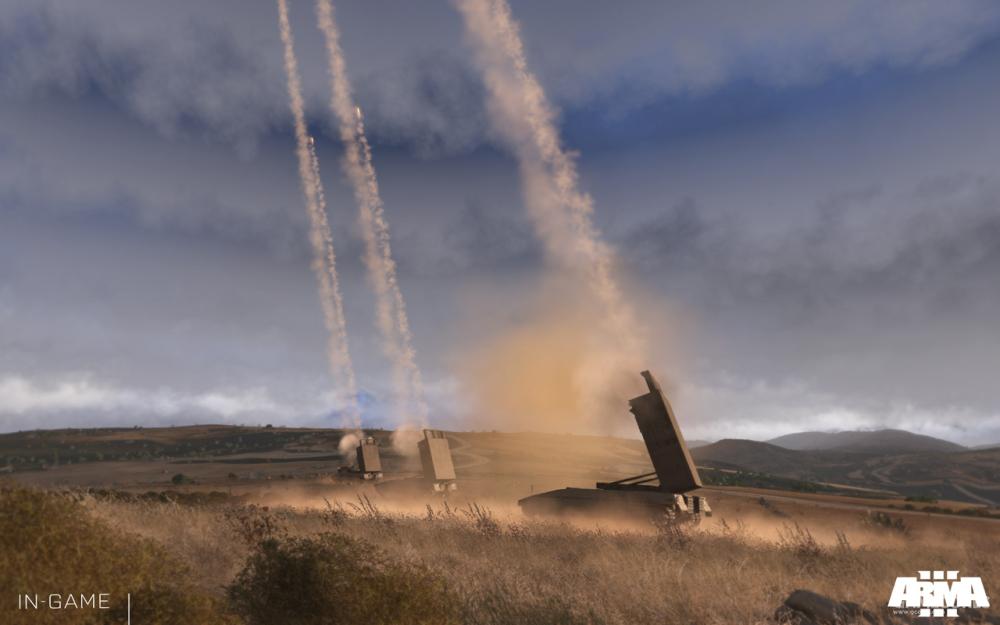 集群射击的M5火箭炮