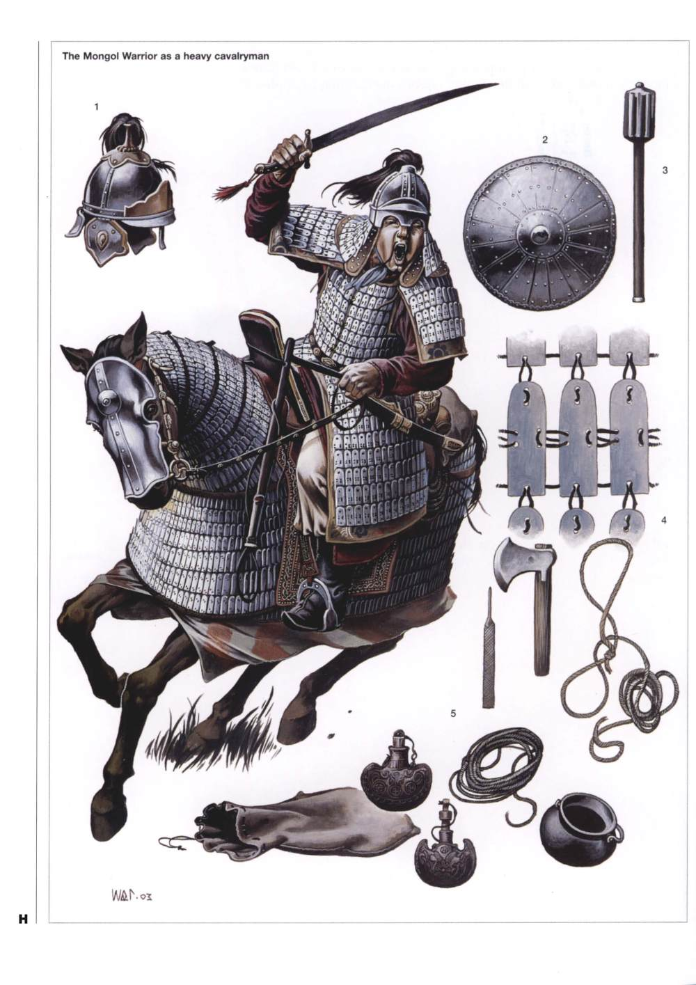 蒙古甲胄骑兵