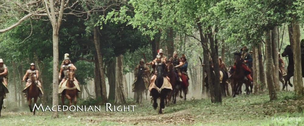 不过,当时亚历山大军队里这些东方骑兵倒是被表现出来了