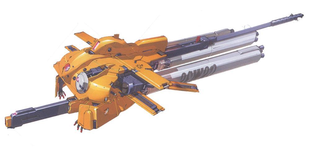 MA形态下,所有推进器朝向后方以获得最大推力。而上半身则变形为相对简单的圆盘形。不过由于最初的测试在宇宙环境进行,MA形态的外形显然要比之后的正式原型机更为复杂。各种探测器结构突出于机体外部。