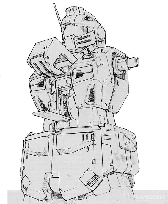 RGM-79F的装甲均为可拆卸的附加式装甲。与机体原有的装甲一起构成了非常可观的厚度。不过受附加装甲影响,舱门开启方式有一定变化。裙甲部位除了附加装甲模块外,还增加了散热结构以强化地面环境下负荷较高的辅助核融合炉的工作稳定性。