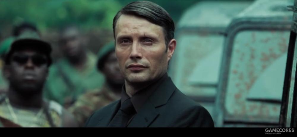 电影中拉西福没有独眼,但在左眼上有道明显疤痕