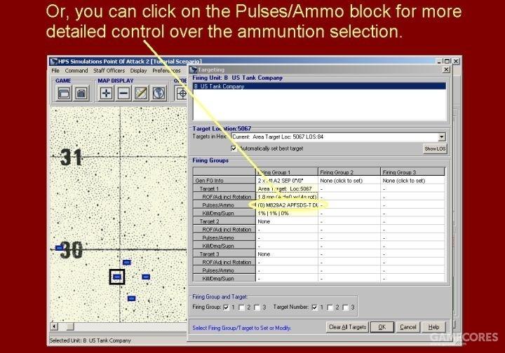 或者你可以点击火力/弹药格选择弹药种类以获得更详细的控制。