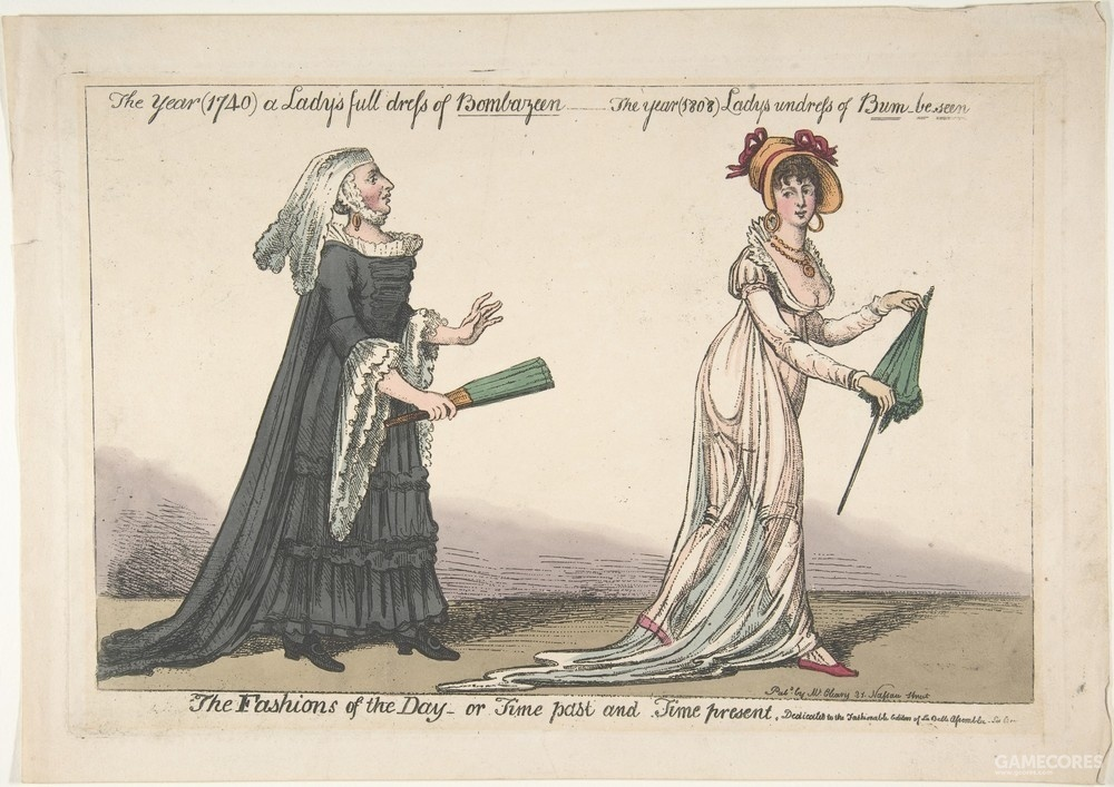 The Fashions of the Day by Anonymous, c 1808