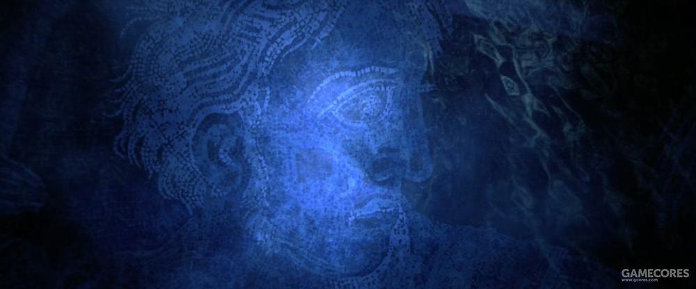 伊苏斯镶嵌画的头像