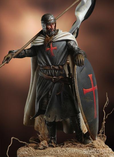 Templar Knight, Bannerholder. XII Century 54mm