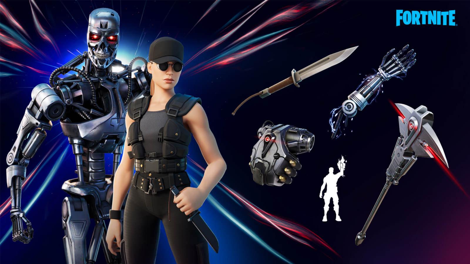 《终结者》莎拉·康纳和T-800将加入《堡垒之夜》
