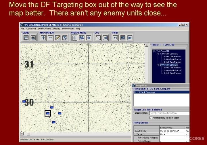 把目标对话框移走,以便更好的观察地图。然而,附近并没有任何敌方目标出现。