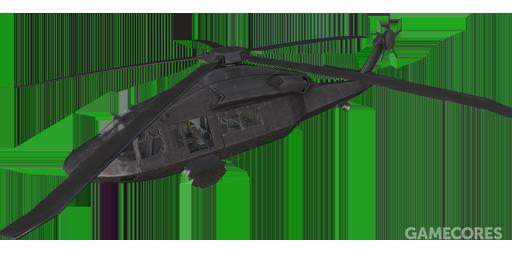 黑色涂装的UH-80