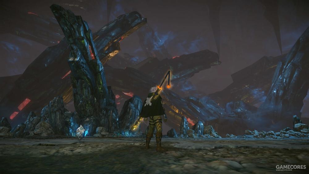艾丝特湖地下方的洞穴,葵盾蟹钳上的晶石应该就是来自此处