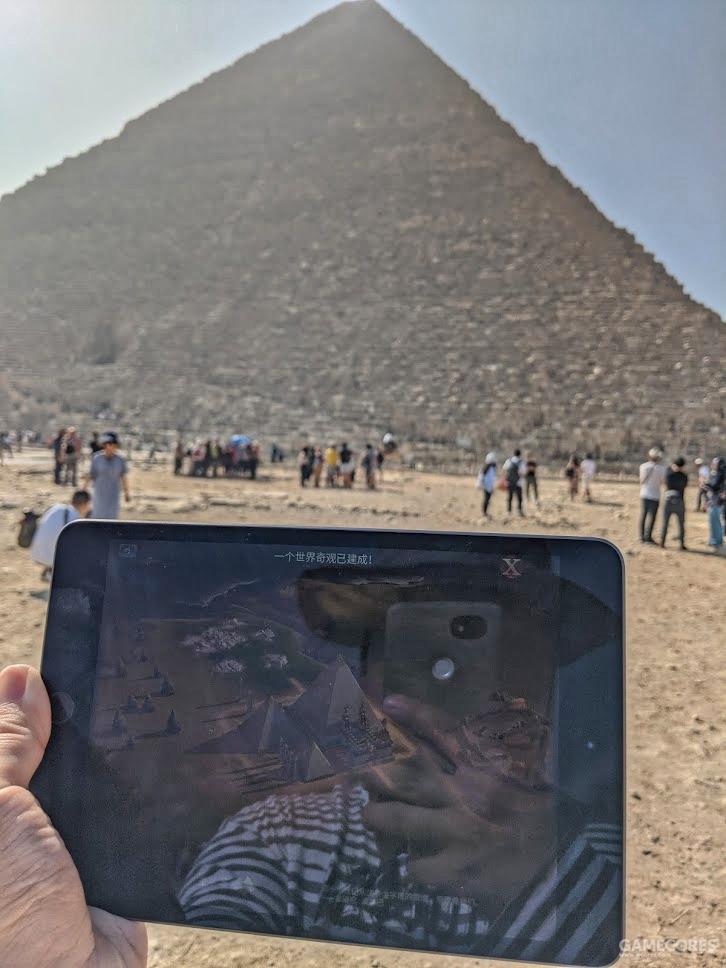 看到金字塔第一眼时的尝试