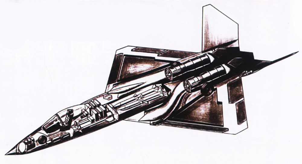 前武器舱用于挂载两枚AIM-9,后武器舱则用于挂载4枚AIM120。如果短弹翼版AIM120服役,后弹舱挂载量能提升到6枚。