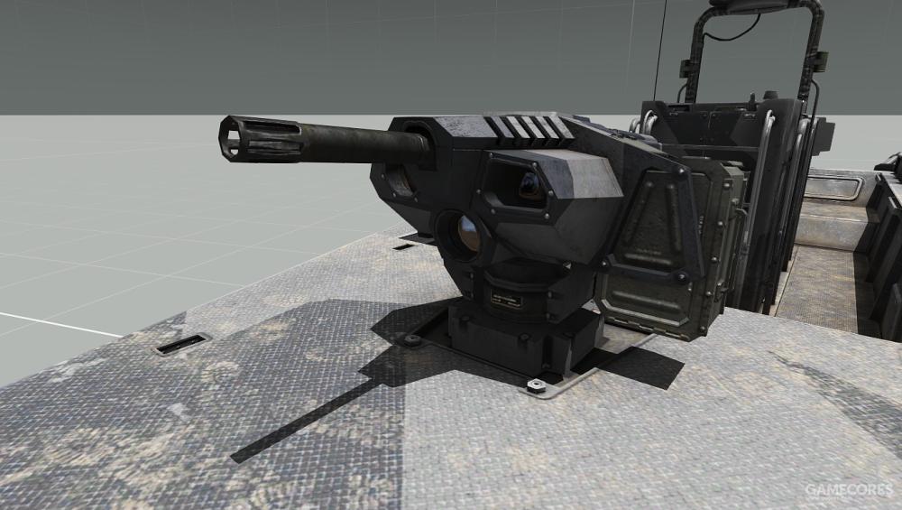 艇首的40mm榴弹发射器