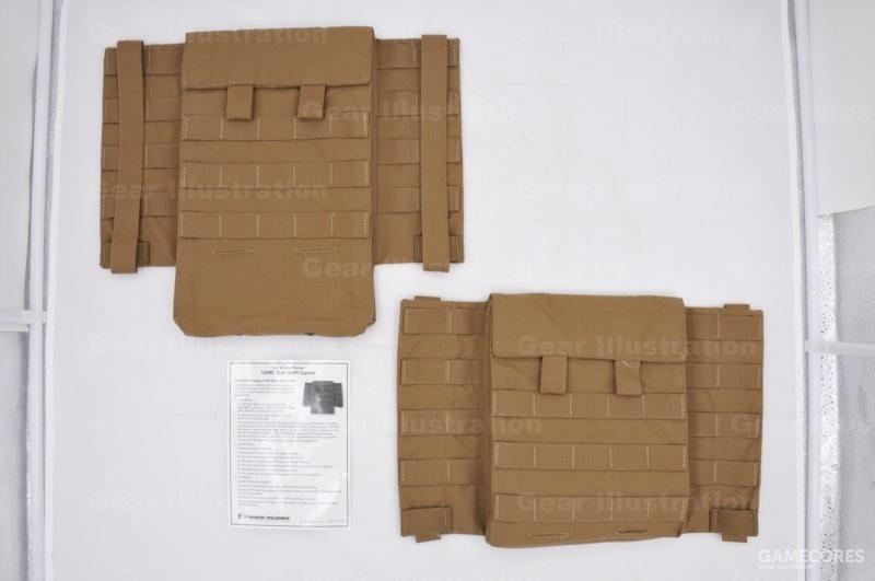 狼棕色的侧面防护组件