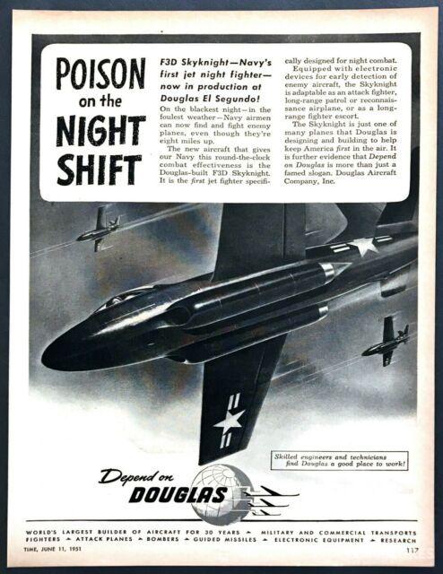 道格拉斯的F3D宣传画