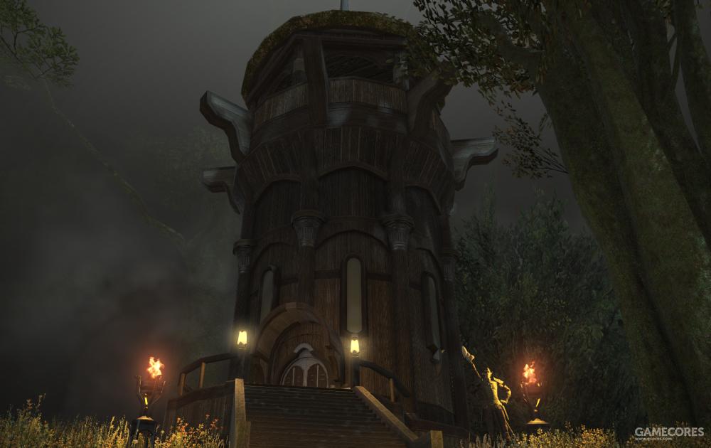 霍桑山寨旁的若斯兰哨塔,这座哨塔用于监视帝国军的动向