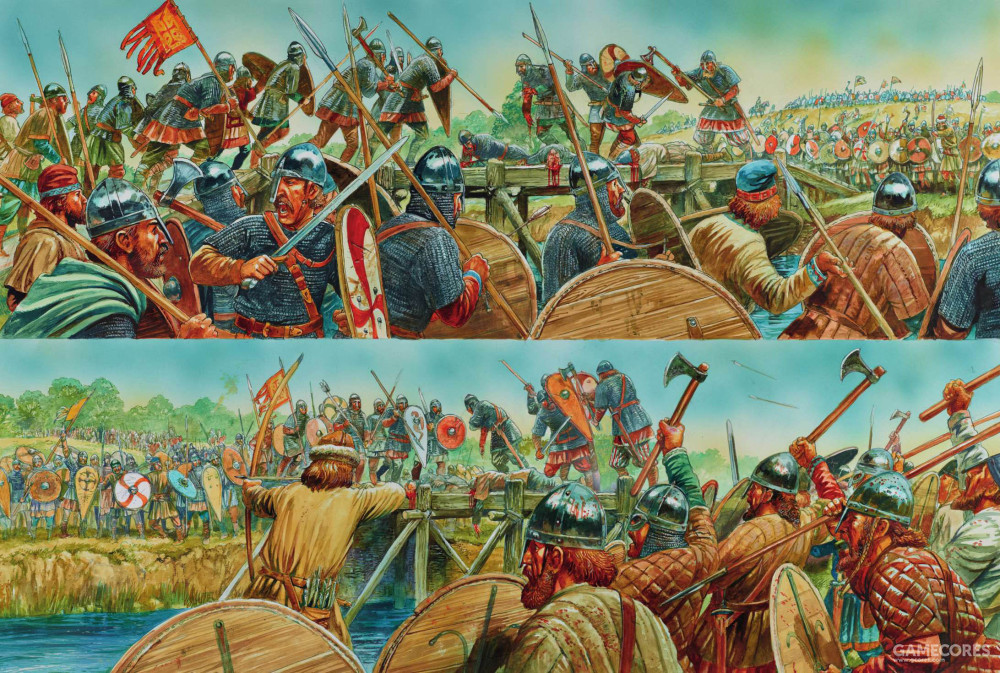 表现斯坦福桥之战的绘画