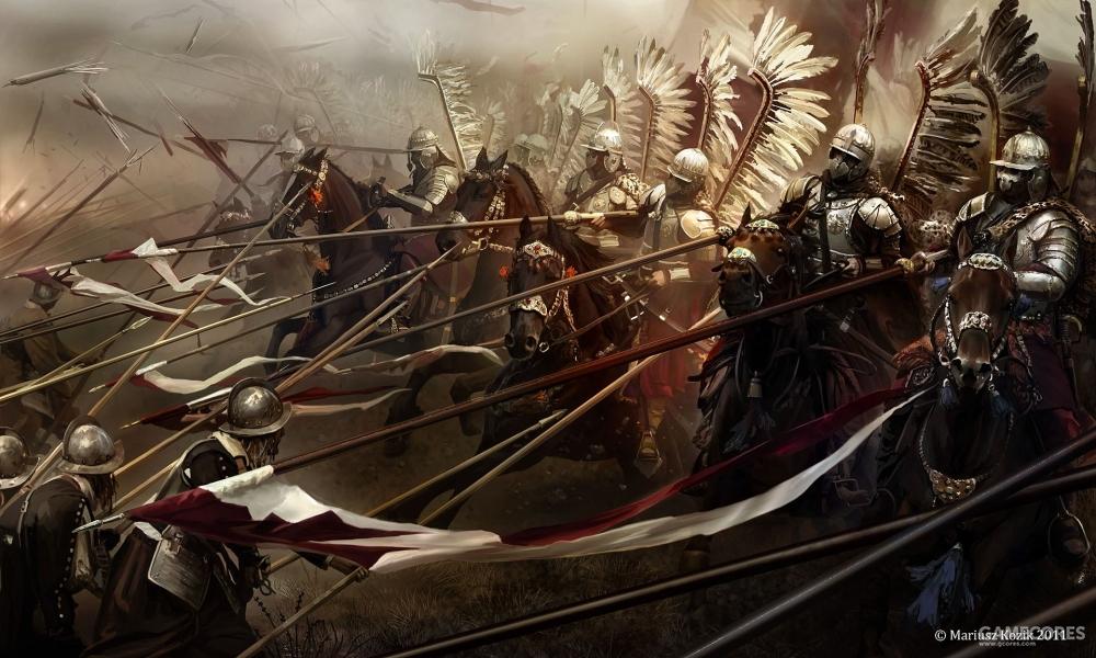 基尔霍姆之战,波兰翼骑兵冲击瑞典步兵方阵