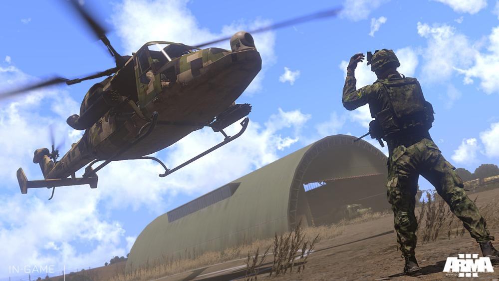 降落中的WY-55