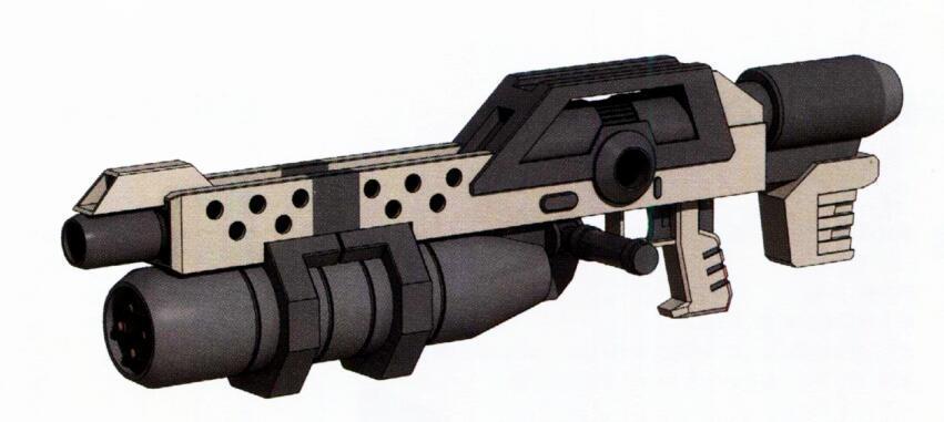 同样由八洲重工研发生产的YF-RC155 155mm电磁炮。弹药系统为现成的61式坦克主炮弹丸。不过其弹舱装弹量也就4到6发。因此枪管下方安装有四联装榴弹发射器作为火力补充。