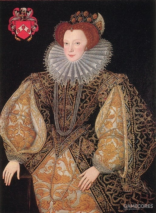Lettice Knollys as Countess of Leicester by by George Gower, c 1585