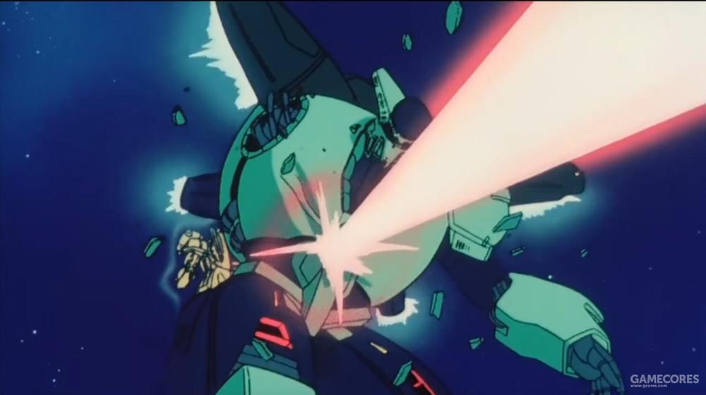 在最终战中,莎拉驾驶PMX-002为希洛克挡枪,而被卡兹驾驶的FXA-05D击毁阵亡。