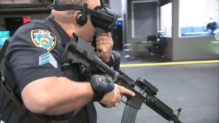 纽约警方使用VR模拟演练枪击案应对方案