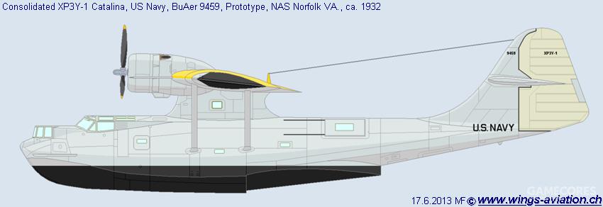 增大垂尾面积的XP3Y-1