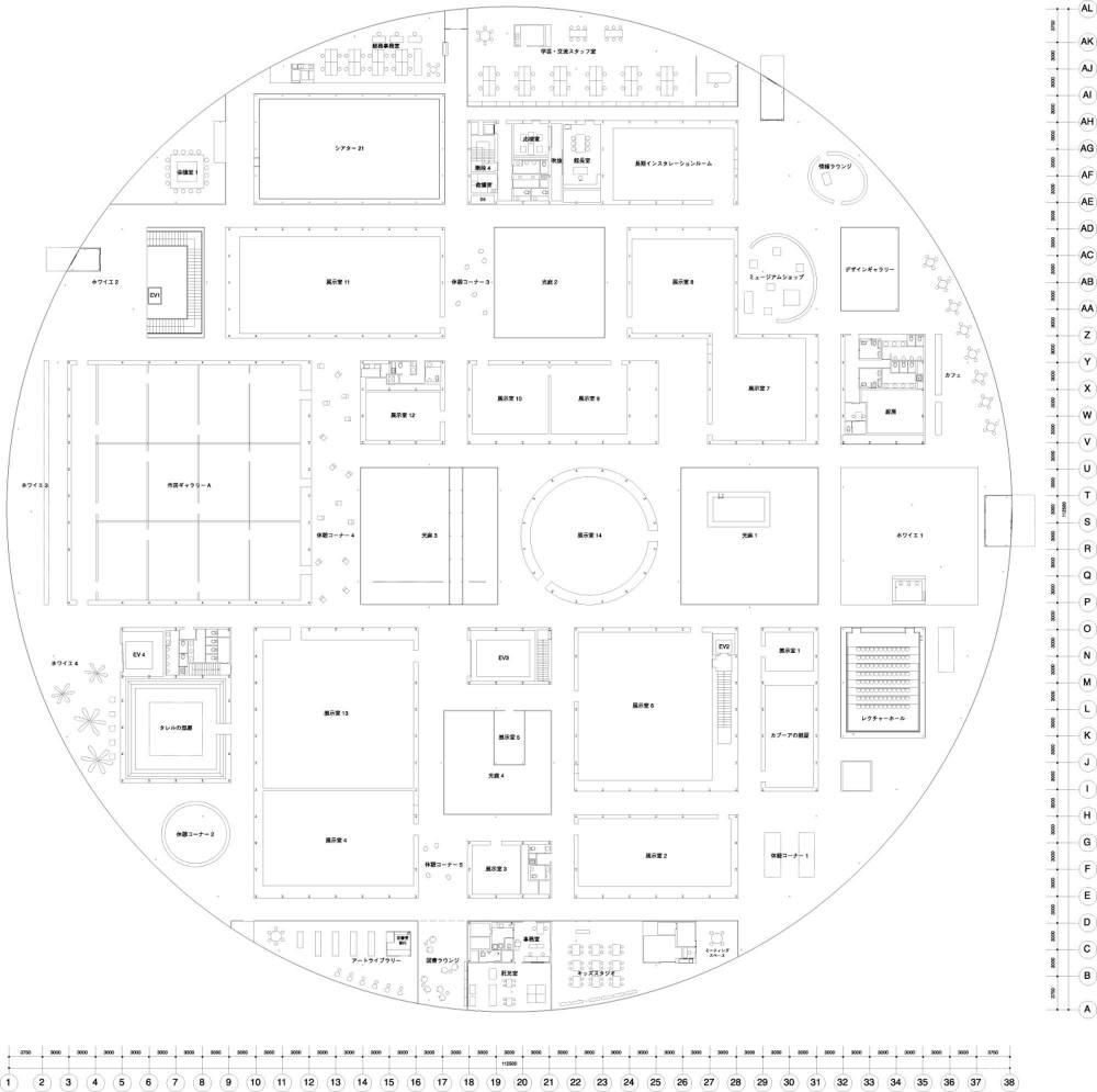 金泽美术馆的平面