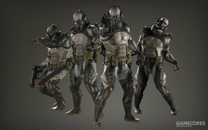 《幻痛》中登场的迷雾型寄生虫部队——在正篇第一个任务你就会和他们遭遇