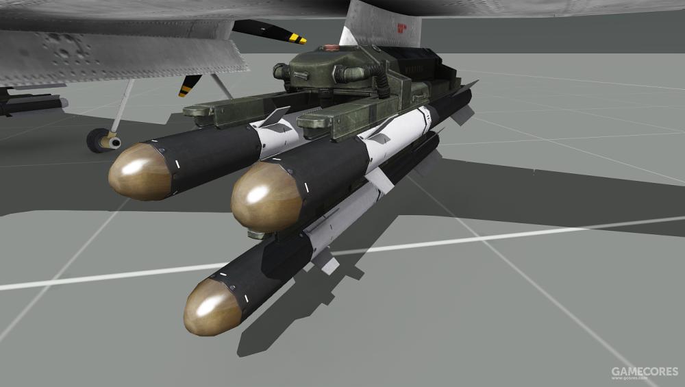 挂载于MQ-4A翼下的导弹