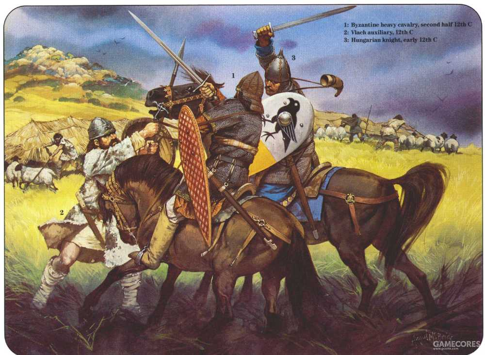 同匈牙利骑兵战斗的拜占庭骑兵