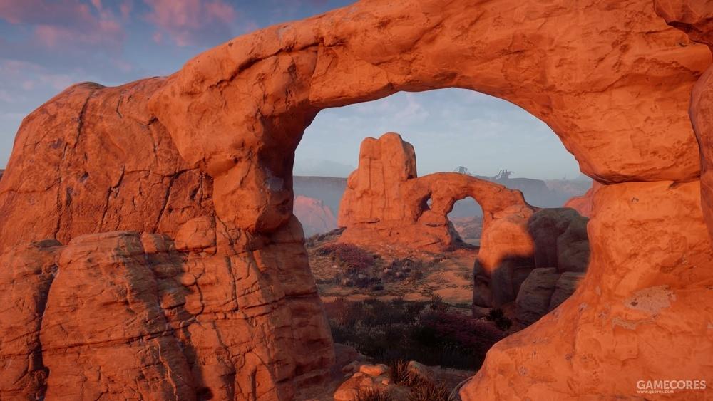 透过窗之拱门的北窗看塔拱门(Turret Arch)