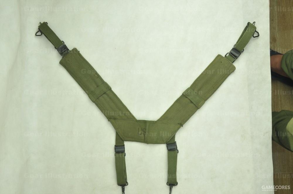 M-1956 LCE装具里的H型背带,已收到最短