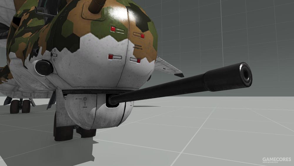 Y-32在机头安装有一门机炮