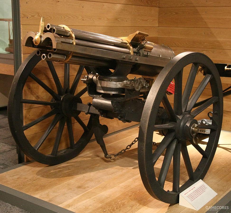 1865年六管加特林机枪