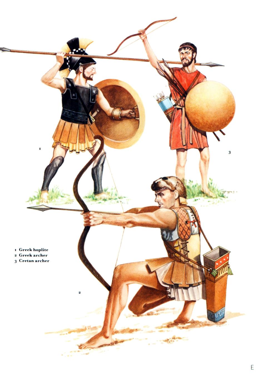 希腊本土和克里特的弓箭手