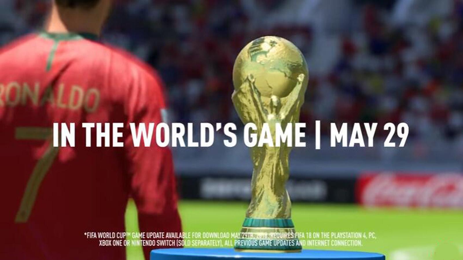《FIFA 18》世界盃資料片公佈,C羅、穆勒等球星出演預告片