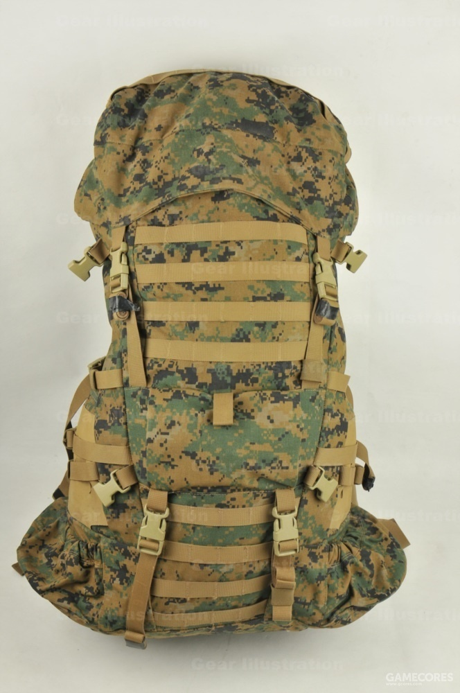 ILBE步兵主包,原型是Arc'teryx BORA 95,容量75L