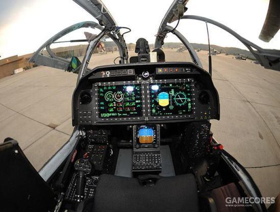 AH-1Z的驾驶舱。基本达成了LHX对于驾驶舱的大部分要求。前后驾驶舱布局基本相同,而且前后驾驶舱均能驾驶直升机。