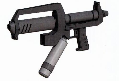 RGM-79F装备的光束武器主要是BR-M-79F-1型光束喷枪。其增加了加速器装置使得收束率得到极大提高。该型光束武器的改进经验为之后的BG-M-79F-3A光束枪继承。